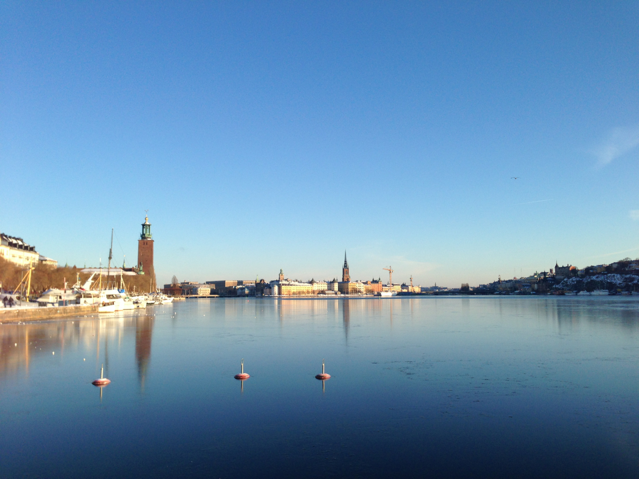 Stockholm at Winter, seen from Norr Målarstrand, Kungsholmen